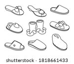 slippers sketches. hand drawn... | Shutterstock .eps vector #1818661433