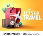 let's go travel vector... | Shutterstock .eps vector #1818673673