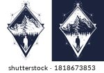 mountain triangular style... | Shutterstock .eps vector #1818673853