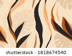 modern exotic jungle plants... | Shutterstock .eps vector #1818674540