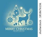 merry christmas amd happy new... | Shutterstock .eps vector #1818676136