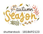 autumn season composition with... | Shutterstock .eps vector #1818692123