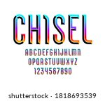 colored bright font  modern... | Shutterstock .eps vector #1818693539