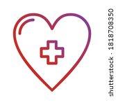 heart healthcare icon logo...
