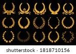 golden laurel wreath.... | Shutterstock .eps vector #1818710156