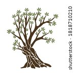 olive tree with branches and... | Shutterstock .eps vector #1818710210