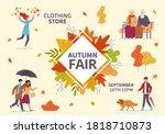 autumn fair. fall season public ...   Shutterstock .eps vector #1818710873