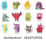 Cute Monsters. Funny Fabulous...