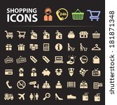 shopping icons. | Shutterstock .eps vector #181871348