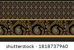 seamless paisley with flowers... | Shutterstock .eps vector #1818737960