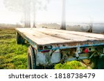 Frost Covered Farm Trailer  At...