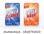 power cleaner disinfectant wash ... | Shutterstock .eps vector #1818741023