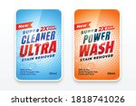 ultra cleaner laundry detergent ... | Shutterstock .eps vector #1818741026