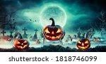 Jack O  Lantern On Skeleton...