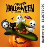 Halloween Vector Poster Design. ...
