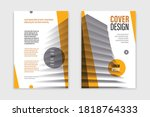 business brochure with office... | Shutterstock .eps vector #1818764333