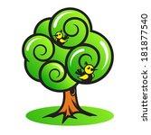 tree with birds   Shutterstock . vector #181877540