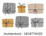 christmas gift boxes clipart... | Shutterstock .eps vector #1818776420