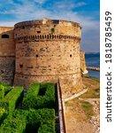 aragonese castle at sunset in... | Shutterstock . vector #1818785459