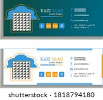 flat and modern email signature. | Shutterstock .eps vector #1818794180