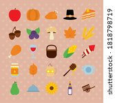 Icon Set Of Thanksgiving And...