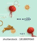 the mid autumn festival is...   Shutterstock .eps vector #1818809060
