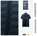 fabric pattern design. black... | Shutterstock .eps vector #1818810239