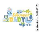 cute card for newborns | Shutterstock . vector #181881953