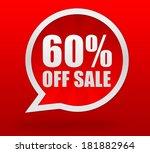 sixty percent off sale | Shutterstock . vector #181882964