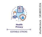 health privacy concept icon....   Shutterstock .eps vector #1818831326