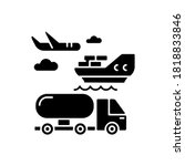 shipping black glyph icon.... | Shutterstock .eps vector #1818833846