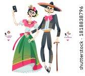 Skeleton Couple Takes A Selfie. ...