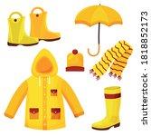 autumn clothes  raincoat ... | Shutterstock .eps vector #1818852173