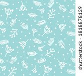 winter seamless pattern with... | Shutterstock .eps vector #1818878129