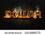 dollar text | Shutterstock . vector #181888070
