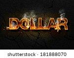 dollar text | Shutterstock . vector #181888070