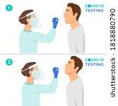 coronavirus testing carried out ... | Shutterstock .eps vector #1818880790