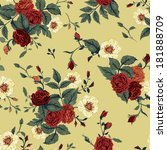seamless floral pattern with of ... | Shutterstock .eps vector #181888709