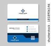 modern business card template....   Shutterstock .eps vector #1818906146