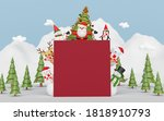 merry christmas and happy new...   Shutterstock . vector #1818910793