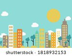city downtown with skyscrapers  ... | Shutterstock .eps vector #1818932153