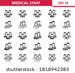 medical staff icons....   Shutterstock .eps vector #1818942383