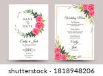 set of wedding invitation with... | Shutterstock .eps vector #1818948206