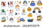 digital vector planner cute... | Shutterstock .eps vector #1818955079