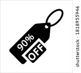 90 percent offer. discount... | Shutterstock .eps vector #1818955946