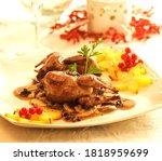 quail stuffed with foie gras...