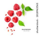 Raspberries And Leaves Creative ...