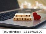 Giving tuesday letter blocks...
