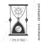 modern magic witchcraft card...   Shutterstock .eps vector #1818964163