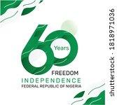 logo design 60th the national... | Shutterstock .eps vector #1818971036